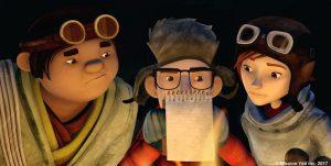 Les trois héros du film: Tensing, Simon et Nelly